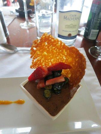 The Restaurant at Clos Malverne: great dessert