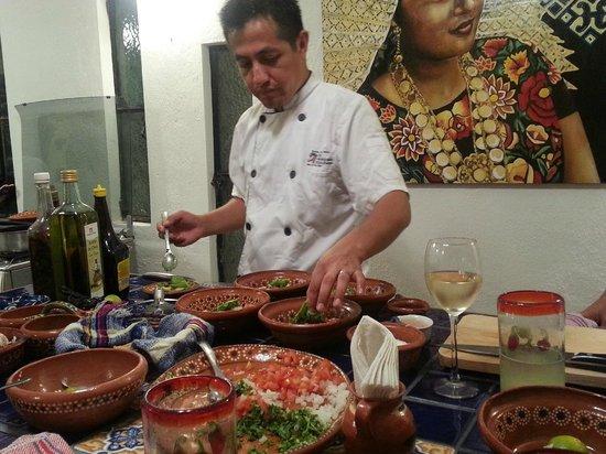 My Mexican Kitchen: Edgar in action