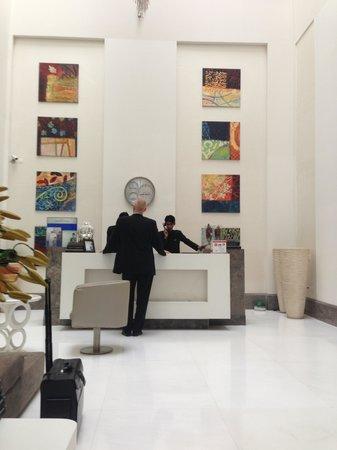 The Ashtan Sarovar Portico: Lobby of hotel upon arrival