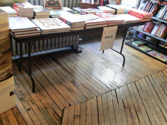 Printers Row: squeaky old  floor