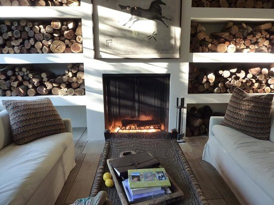 "Ranch at Live Oak Malibu: Fireplace in the ""Lounge"""