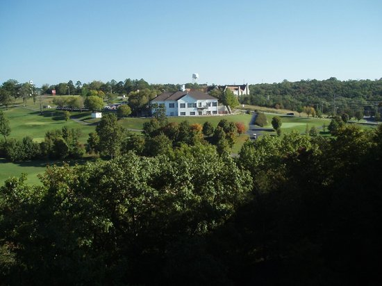 Grand Crowne Resort : View of 1000 Hills Golf Course from our unit - 2010