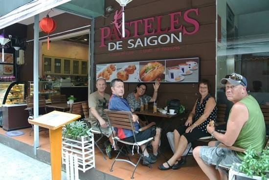 Beautiful Saigon Hotel 2: great little patisserie on corner. delicious eclairs and cafe su da!