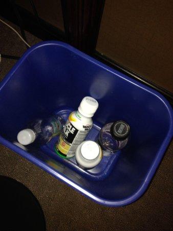 Sheraton Tysons Hotel: Un-emptied recycle bin