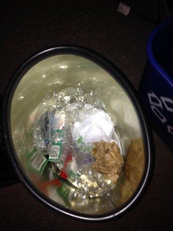 Sheraton Tysons Hotel: Trash not taken out