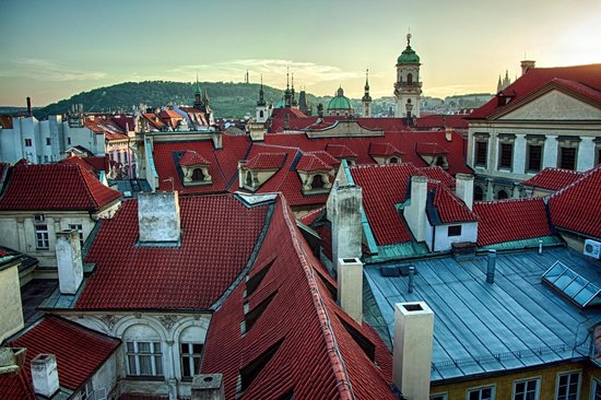 Karlova 25 Apartments: Prague Old Town roofs and Petrin lookout tower