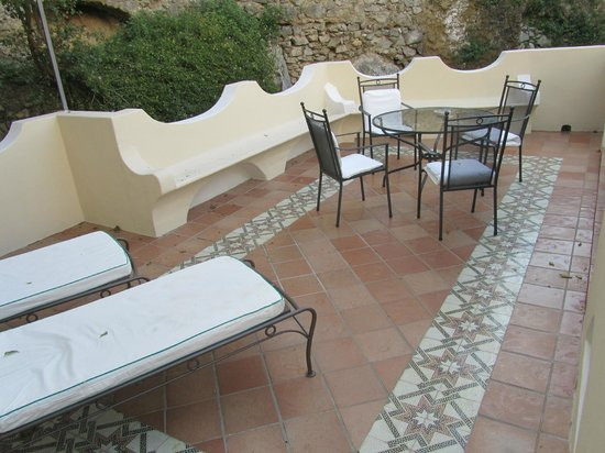 Hotel Palazzo Murat : Our terrace in a special superior room (new section)
