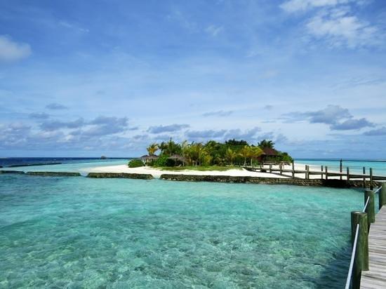 Komandoo Maldives Island Resort: island from the JWV jetty