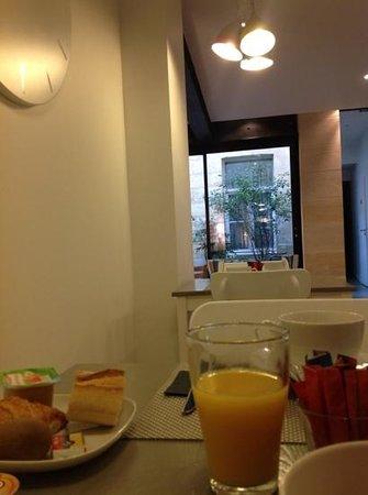 Hôtel La Cour Carrée : petit dejeuner