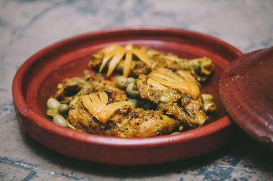 Riad Dar Zaman: Karima's chicken and lemon tagine
