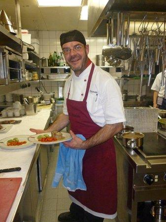 Auf Schönburg Burghotel und Restaurant: der Koch