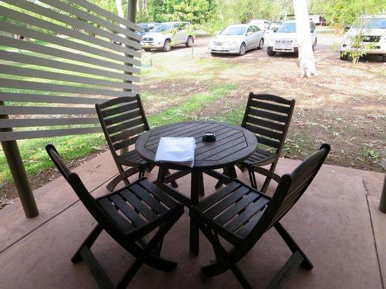 Cooinda Lodge Kakadu: Sitzplatz