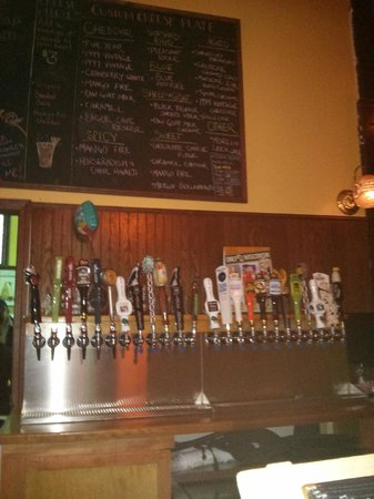 Wisconsin Cheese Mart: the beer selection on our visit