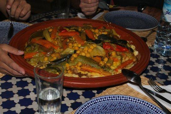 Dar Zayna: spécialité marocaine servie à l'hôtel