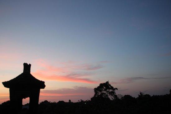Puri Dukuh Accommodation: Ausblick auf der Dachterasse