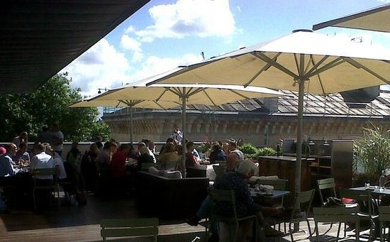Lawn on top of the Ashmolean - Picture of Rooftop Restaurant ...