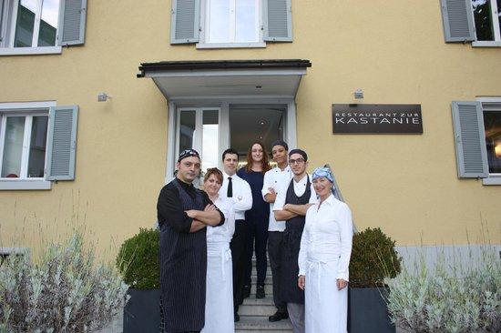 Uster, Schweiz: Kastanie-Team