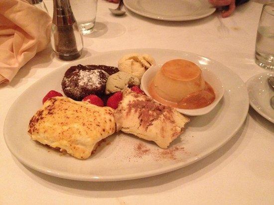 Il Fiume Ristorante Italiano: Our selection of desserr