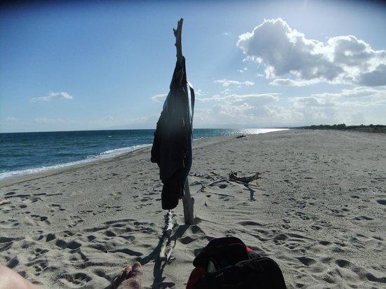 Agriturismo La Casa di Botro: Privater Strand - kein Mensch weit und breit