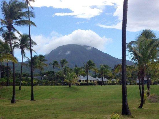 Nisbet Plantation Beach Club : Beautiful Mt. Nevis in the background of Nisbet
