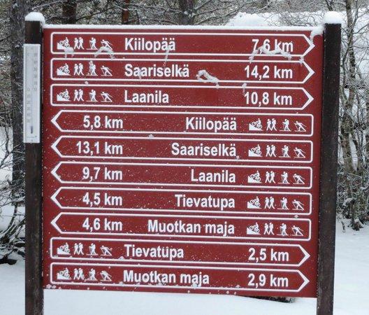 Kakslauttanen Arctic Resort : Distances, Kakslauttanen is located in a very remote area