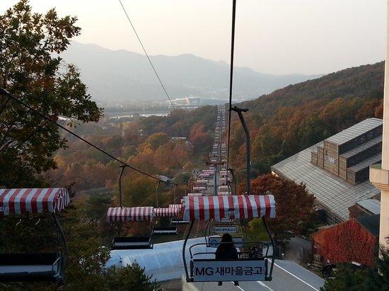 Seoul Grand Park : вид с фуникулера
