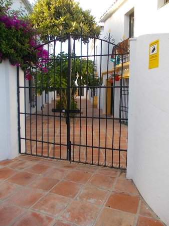 Globales Cortijo Blanco Hotel: One of the back entrances into the hotel