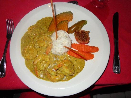 Chez Max: Curry Shrimp