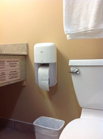 """Quality Inn Orleans: the infamous """"one sheet at a time"""" dispenser"""