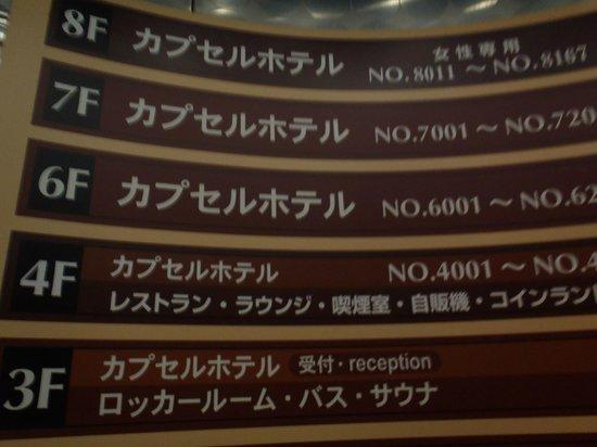 Shinjuku Kuyakushomae Capsule Hotel: エレベーター内