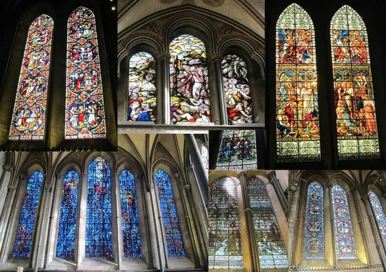 Salisbury Cathedral : Stained glass