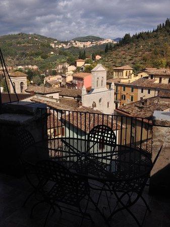 La loggia sul Nera : Il panorama dalla terrazza