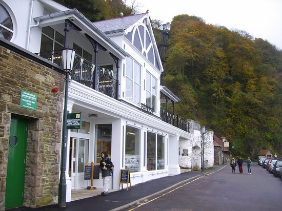 The Pavilion Dining Room: The outside of the rebuilt Lynmouth Pavilion.