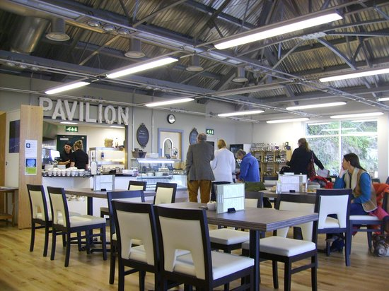 The Pavilion Dining Room: The clean and bright restaurant on the first floor.