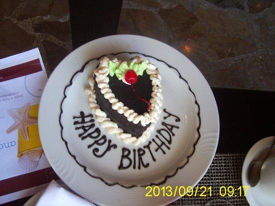 Sheraton Senggigi Beach Resort: Geburtstagskuchen :-)