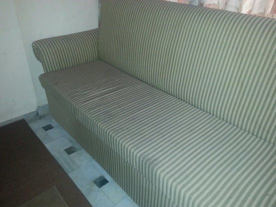 Sandhu Palace Hotel : Stained couch