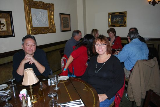 Dalesio's Restaurant : Our happy urban hikers are about to get their pasta