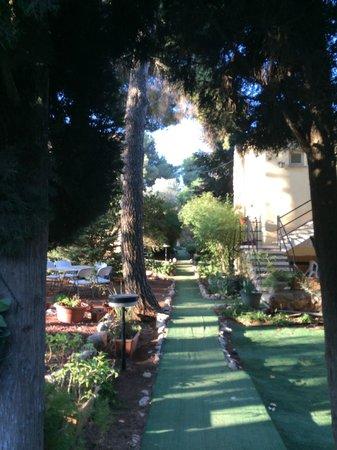 Safed Inn: Tuin en toegang tot de kamers