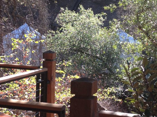 Calistoga Ranch, An Auberge Resort: not so terrific view of  spa tents