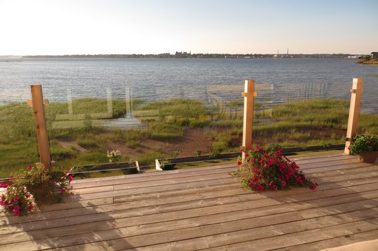 The Boathouse B&B: Charlottetown from deck