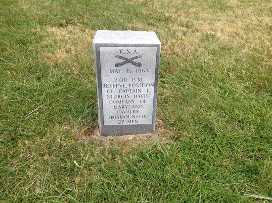 Days Inn New Market  Battlefield: About one hundred yards from the hotel.  Very cool.