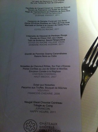 Hotel Baud : Repas Gourmand