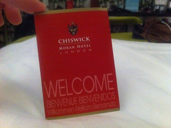 Clayton Hotel Chiswick : Pic of my card key