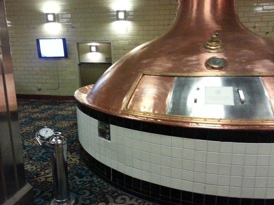 The Brewhouse Inn & Suites: Brew kettle on 2n floor