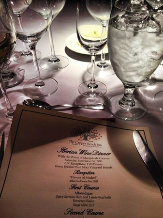 The Copper Beech Inn: Formal Dining Room - Saturday Night Wine Dinner