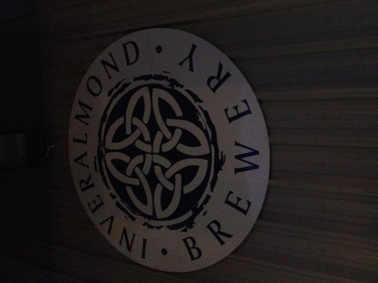The Inveralmond Brewery: Slightly dark when we left!