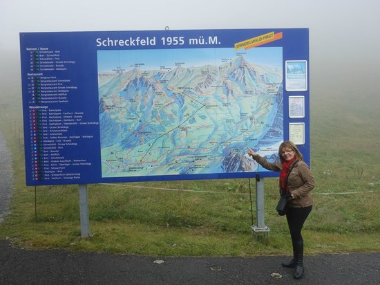 Grindelwald, Suiza: O painel indicativo