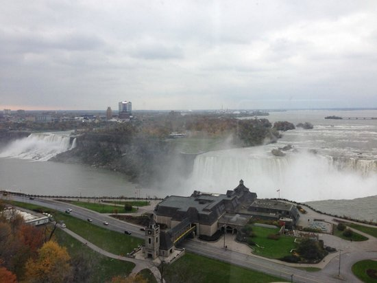 Niagara Falls: View of the falls from our room