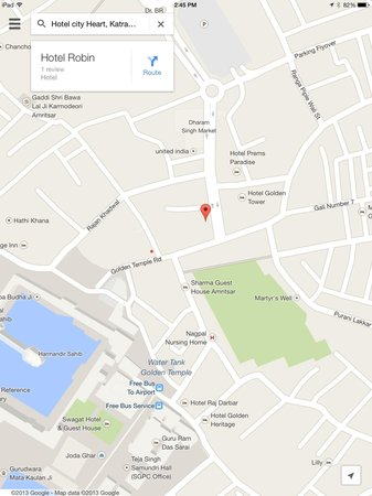 Hotel City Heart : Corrected Point On Google Maps