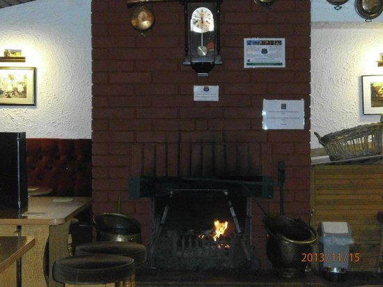 The Lade Inn : The fire place in the bar area